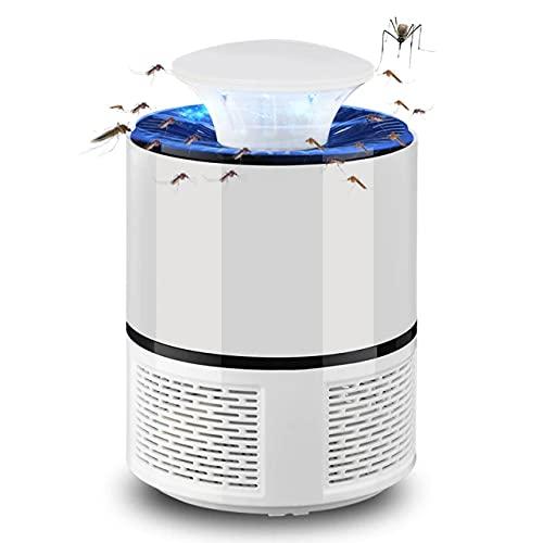 ISDI Lampara Antimosquitos Electrico USB Portátil Mosquito Killer Lámpara con Luz UV LED para, para Dormitorio,Salón,Cocina,Jardín y Habitación de los Niños-Black (Blanco)