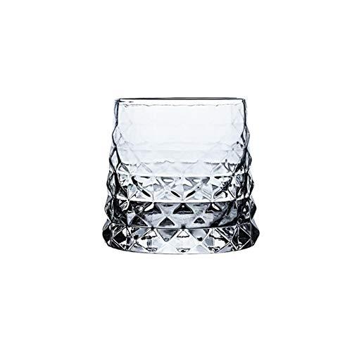 STORY Agency Specific Link Makoto Komatsu Irregular Whisky Rock Glass Artwork Wrinkle Whiskey Cognac Brandy Snifters Cup XO Tumbler (Capacity : 330ml, Color : Prismatic Glass)