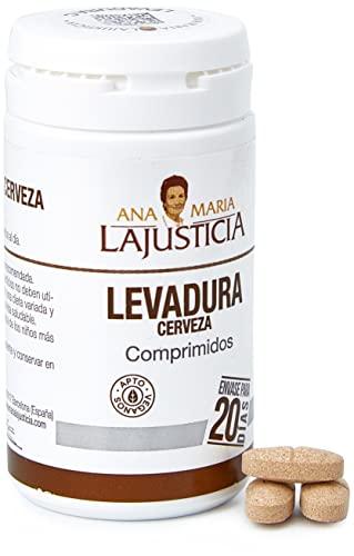 Ana Maria Lajusticia - Levadura de cerveza – 80 comprimidos contribuye a mantener un cabello sano, unas uñas fuertes y una piel tersa. Envase para 20 días de tratamiento.