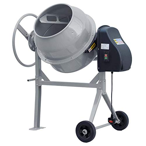 Warmiehomy 140 Litre 550W Cement Concrete Mixers Electric Cement Mixing Concrete Tools Mortar Plaster Machine Adjustment Mixer Large Capacity