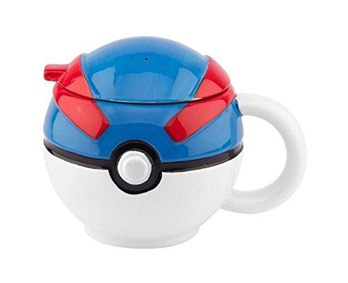 Pokemon Poke Ball Molded Ceramic PREMIUM Coffee & Tea Mug/Cup - Novelty Gifts Toys & Video Games