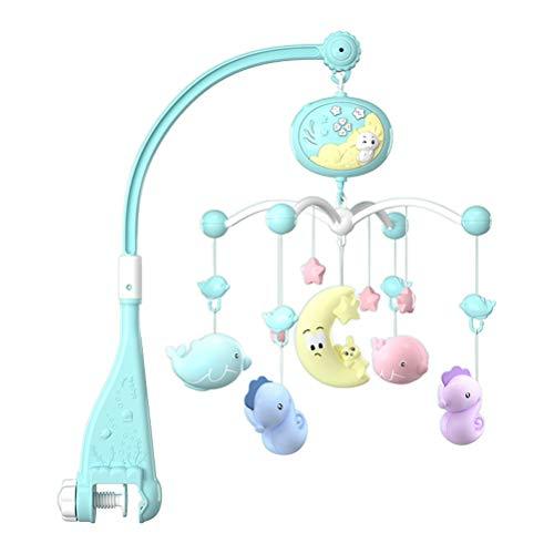 Desire Sky Cuna musical para bebé, juguete colgante para bebés, cuna musical con proyector y luz nocturna, campana giratoria con caja de música para recién nacidos de 0 meses