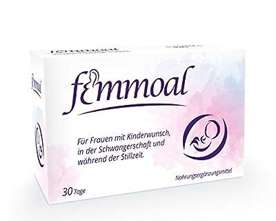 FEMMOAL PLUS Folic acid Pregnancy - Vitamins of Fertility to Lactation - Made in GERMANY - DHA, Omega-3, Iodin, Vitamin b12 & d - 60 Capsules from MOAB Pharma