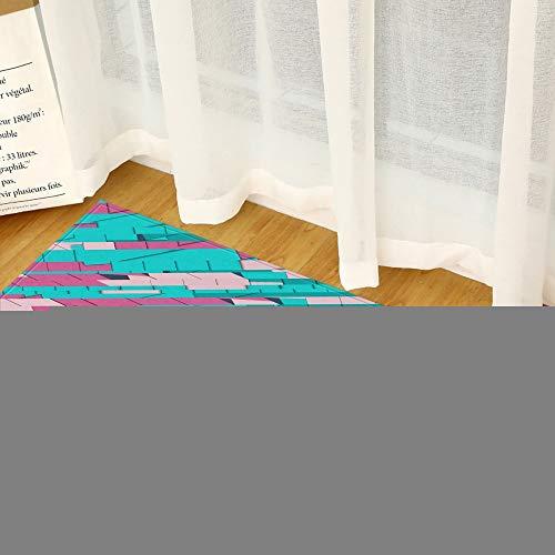 Alfraza para exteriores al aire libre Grano de madera de cocina Entrada de la alfombra Felpudo Dormitorio Pasillo estera del piso de adoquines 3D Baño Absorción de agua antideslizante largo Alfombra A