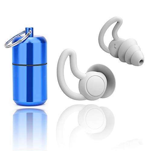 Ohrstöpsel zum Schlafen Silikon Gehörschutz Ohrstöpsel für Gehörschutz, Gehörschutzstöpsel - SNR 32dB, aus wiederverwendbar Silikon, zum Schwimmenwasserdicht, weich