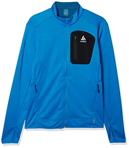 Odlo Blaze Ceramiwarm Pro Fleecejacke Veste Polaire pour Homme, Bleu directionnel mélangé, XL