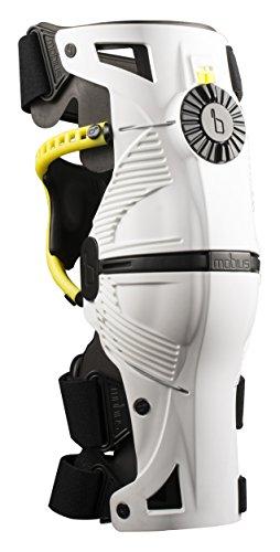 Mobius - Rodillera X8, color blanco/amarillo, talla XXS