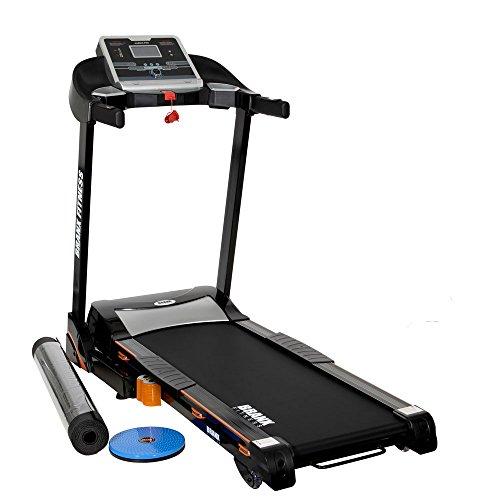 Branx Fitness Foldable 'Cardio Pro' Touchscreen Console Treadmill - 17.5km/h - 6hp - 0-20 Level Auto Incline - Body Fat Readout - Soft Drop System - Smart Deck Suspension Points