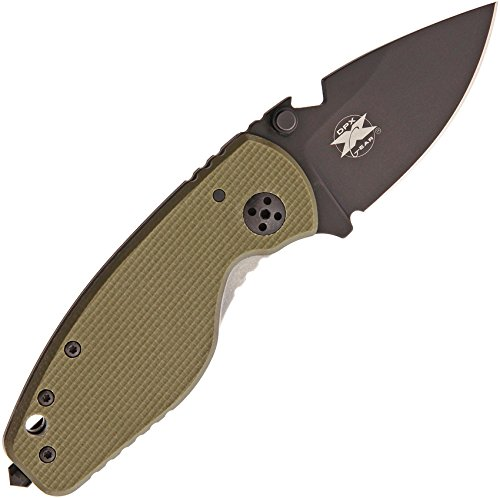 DPx Gear - Outdoormesser - Klingenlänge: 6.03 cm - Heat/F OD Green Left Hand