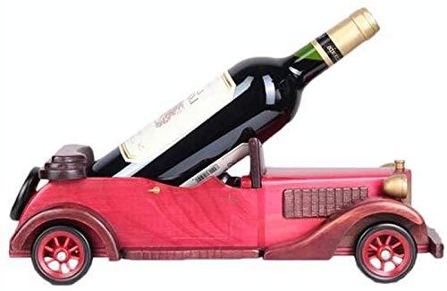Titular de la botella del estante del vino Rack de vino de madera maciza Botella de vino Rack Rack de vino Retro Vino Titular de vino Inicio Armario de vino Decoración Wobble Gabinete de vino gratis