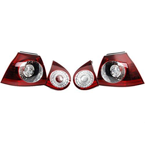 Volkswagen 1K0052204 Jeu de Feu Arrière LED, Rouge Cerise