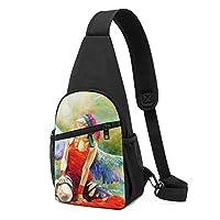 ワンショルダーバッグ メンズ 斜めがけ胸バッグ ボディー肩掛けバッグ 小型手提げバッグ 出張 通勤 通学用 エンジェル 女の子