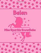 Belen Miss Sparkle Snowflake: Personalized Draw & Write Book with Her Unicorn Name   Word/Vocabulary List Included for Story Writing