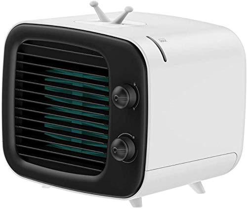 JWCN Persönlicher Raumluftkühler Tragbare Mini-Klimaanlage 3-in-1-Luftkühler Luftbefeuchter mit 320 ml Wassertank Desktop-Luftkühlventilator für den Wohnraum Uptodate