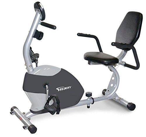 Velocity Exercise Gray Recumbent Exercise Bike