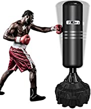 Freestanding Punching Bag, Yoken Stand Kickboxing Bags with Durable Suction Cup Rubber Base for Adult Youth - Men Stand Heavy Boxing Bag   Black
