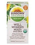 Sundown Organics Well Multivitamin for Women, with Vitamin C, D3, and B, Gluten Free, 100% Non-GMO, 30 Tablets human growth hormone supplement Apr, 2021