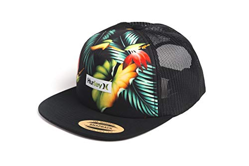 Hurley M Printed Square Trucker Gorra, Hombre, Light Carbon, 1SIZE