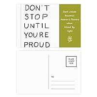 あなたが得意な引用まで止まらない 詩のポストカードセットサンクスカード郵送側20個