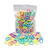 100 Pack Pastel Colorful Nylon Elastics Hair Tie Girls' Ponytail Holder Accessories