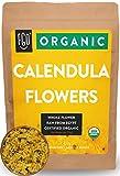 Organic Calendula Flowers | Whole | 4oz Resealable Kraft Bag | 100% Raw From Egypt | by Feel Good...