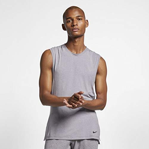 Nike Dri-fit Yoga, Camiseta de Tirantes para Hombre, Gris (Gunsmoke/Atmosphere...