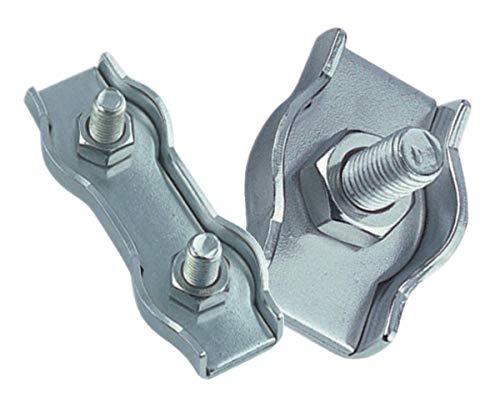 Simplex- und Duplex - Drahtseilklemmen A4 - AISI316 (Simplex Drahtseilklemme, für Drahtseilstärke 5 mm)