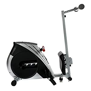 XS Sports R110 Home Rowing Machine-Folding with Adjustable Resistance-Fitness Rower (Silver)