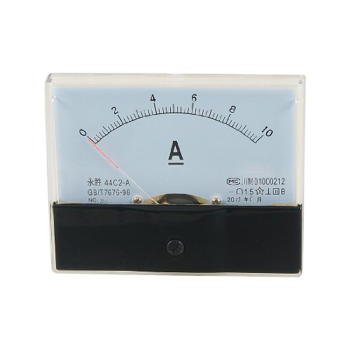 44C2DC 0–10A Rectangle Analog Panel Amperemeter Gauge de