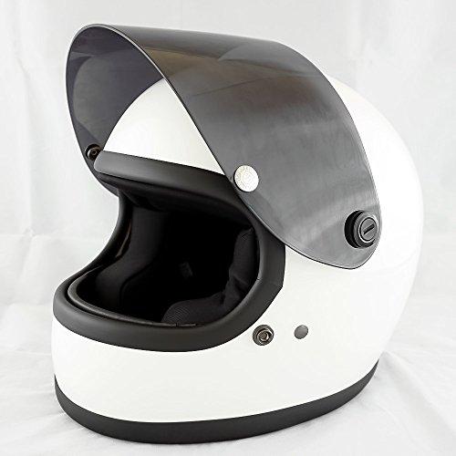 NEO VINTAGE レトロスタイル フルフェイス SG規格品 [ホワイト×ダークスモークシールド 白 Lサイズ:59-60cm対応] VT-7 バイクヘルメット
