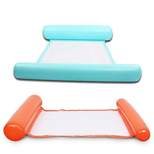 Migimi 2 camas hinchables para piscina hinchables, colchonetas de agua, hamacas hinchables para piscina, tumbona, tumbona, tumbona, hamaca hinchable, colchoneta de aire para piscina
