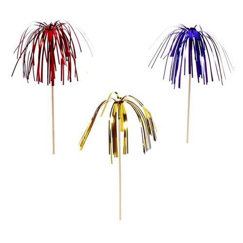 """Deko-Picker """"Feuerwerk"""" (farbig sortiert / 15,5 cm - 100 Stück)"""