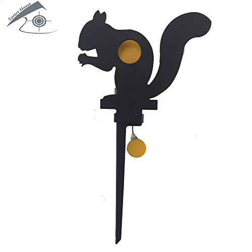 Target House Knockdown Field Target self Reset Target for .177 and .22 air Gun Target Thickness 3mm (Squirrel)
