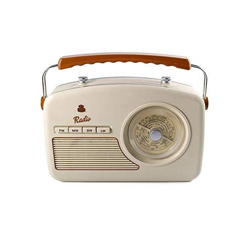 GPO Rydell Retro Tragbares 4-Band-UKW- / MW- / SW- / LW-Radio mit Retro-Zifferblatt - Creme