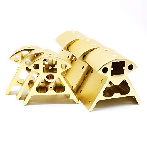 HUANRUOBAIHUO 1set Aluminium Corners profiel Zwart/Goud Vertex 3pcs bottom +3 stuks top for RepRap 3D-printer Framedelen 3D Printer Parts (Size : Silvery)