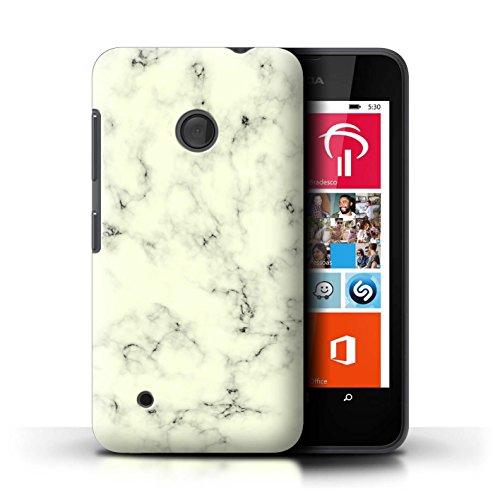 Custodia/Cover/Caso/Cassa Rigide/Prottetiva STUFF4 stampata con il disegno Marmo Roccia Granito Effetto per Nokia Lumia 530 - Giallo