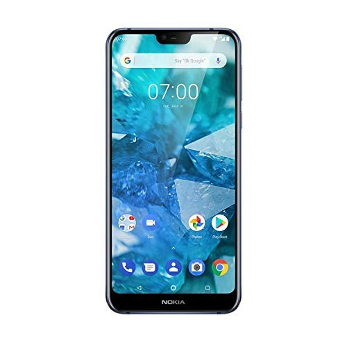 Nokia 7.1 5.8-Inch Android One UK SIM-Free Smartphone with 3GB RAM and 32GB Storage - Blue (Renewed)