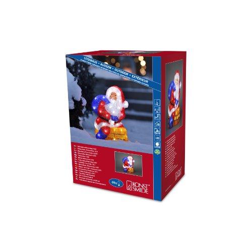 Konstsmide 6172-203 LED Acrylfigur Weihnachtsmann mit Schornstein für Außen