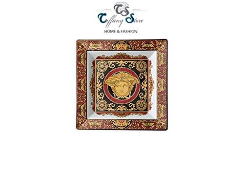 Versace Medusa rouge Vide poche carré 12 cm