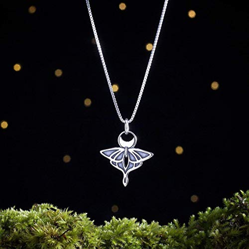 Sterling Silver Luna Moth - Double Sided - (Pendant Only or Necklace)