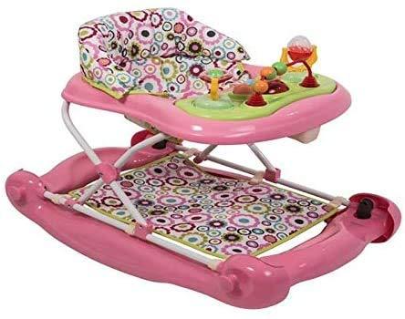 Los andadores, andadores plegable universal ROPS andador con bandeja de música y almohadillas removibles rodar,Pink