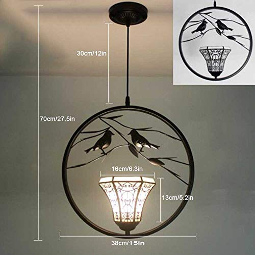Tiffany stijl hanglamp, modern roestvrij staal glas hanglamp, Creative Bird Round Living Room plafondlamp, halway keuken Island slaapkamer plafondlamp