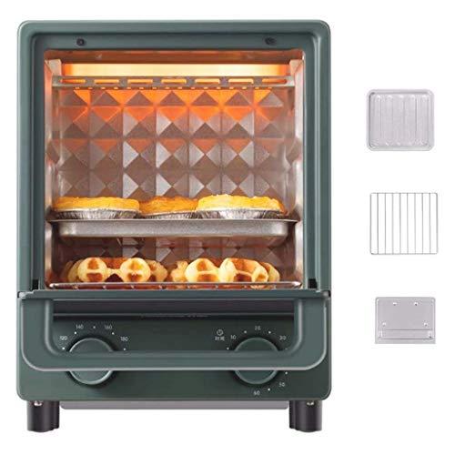 QWSA Mini-Backofen und Grill, 12 l, elektrisch, multifunktional, mit einstellbarer Zeitschaltuhr