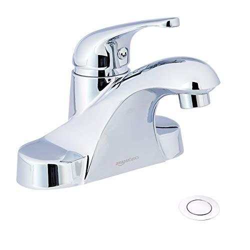Amazon Basics AB-BF605-PC Basin Faucet-4-Inch, Polished Chrome