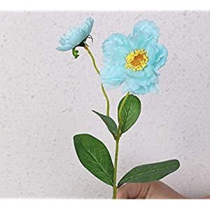 Artificial and Dried Flower 2 Heads Silk Poppy Artificial Flowers Fake Flower for Wedding Flower Rosemary for Home Office Table Fall Decor