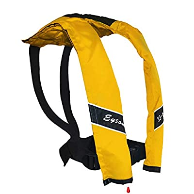 Eyson Slim Inflatable PFD Life Jacket Life Vest Adult Automatic (Yellow)