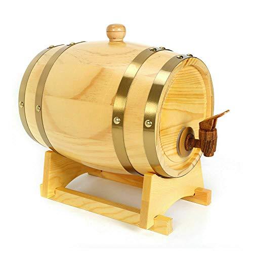 Kaibrite Weinfass Kiefer Holz Weinfass Zur Lagerung Wein mit/Holzhahn 5L Fassungsvermögen für Wein, Whisky & Schnaps traditionelle EU Handarbeit, inkl.
