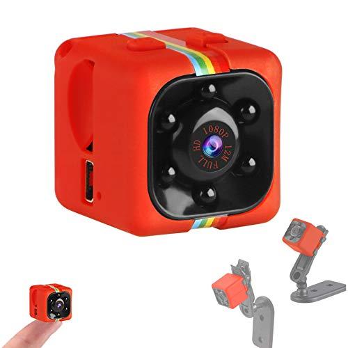 Crazepony-UK Mini cámara Espias SQ11 Camcorder 3.6mm Night Vision FOV140 Mini Camera Spy 1080P HD Sports Micro Camera DVR Video Recorder (Metal Shell)