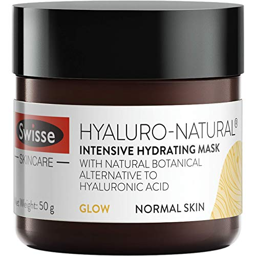 Swisse Skincare Hyaluro-Natural Intensive Hydrating Mask for Supple, Plump and Glowy Complexion – 50 g (Normal Skin)