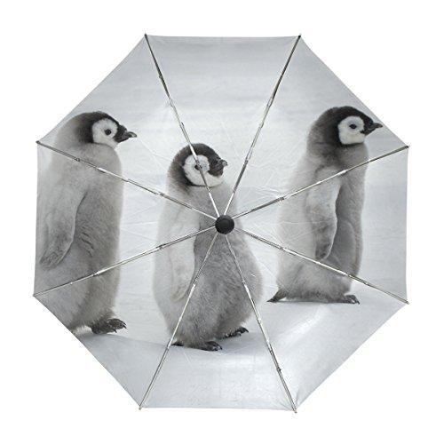 alaza Nette Pinguine Regenschirm Reise Auto Öffnen Schließen UV-Schutz Windsicher